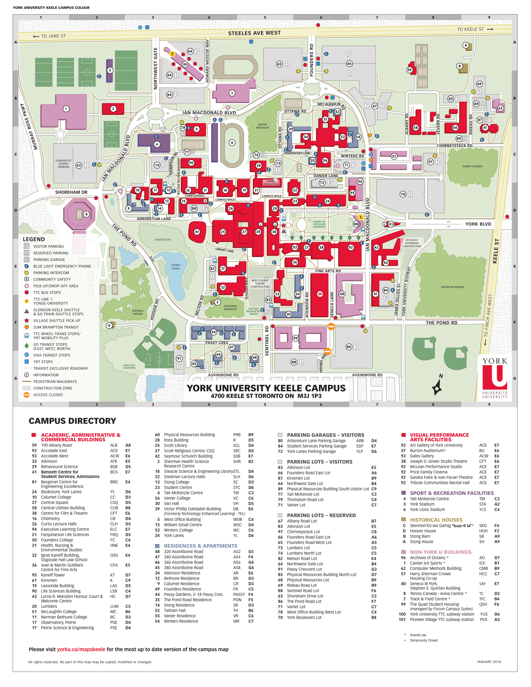 Map of Keele Campus